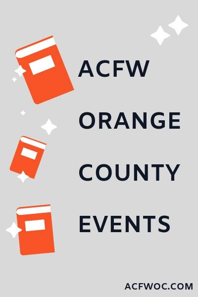 Events and monthly meetings for ACFW Orange County Chapter. acfwoc.com