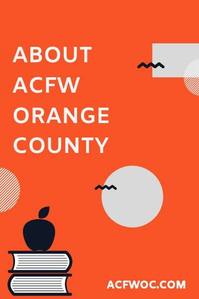 Learn more about ACFW Orange County.  acfwoc.com